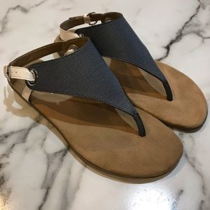 Grey and whit sandals